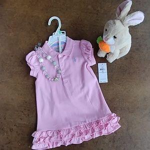 RL pink dress + bloomers NWT